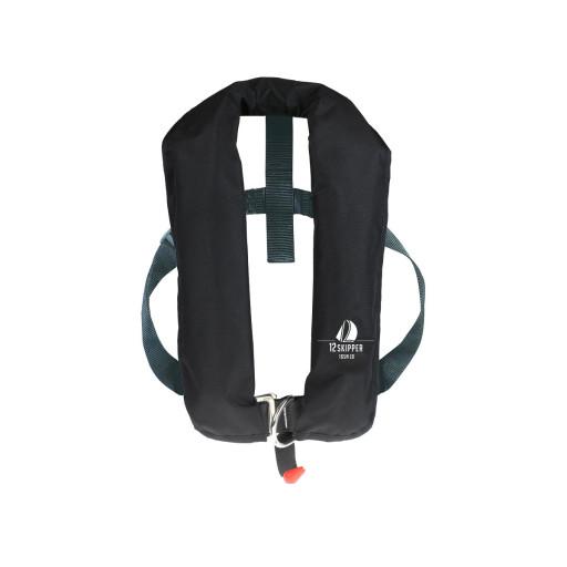 12skipper Automatik-Rettungsweste 165N ISO mit Harness, schwarz