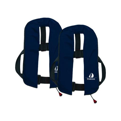 2er-Set 12skipper Automatik-Rettungsweste 165N ISO, marineblau