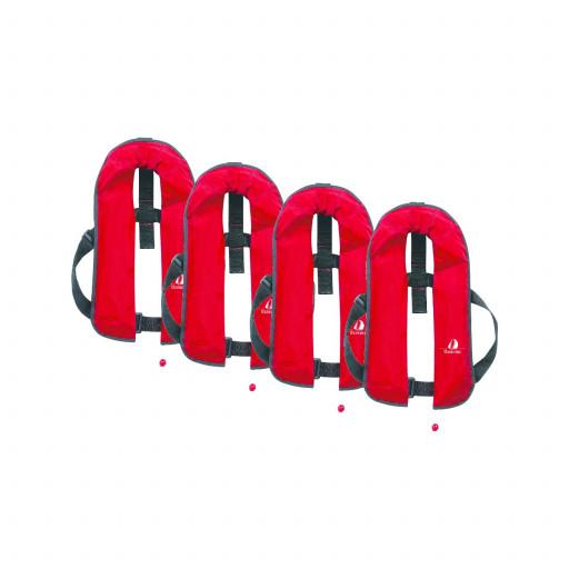 4er-Set 12skipper Automatik-Rettungsweste 165N ISO, rot