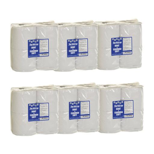 6er Set Yachticon Boot & Caravan Soft Toilettenpapier, 24 Rollen