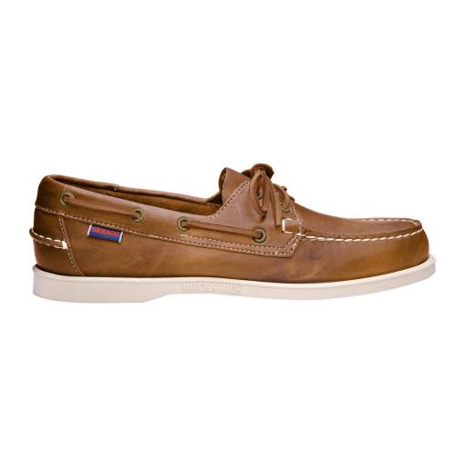 Sebago Docksides Bootsschuh Damen Brown-Tan