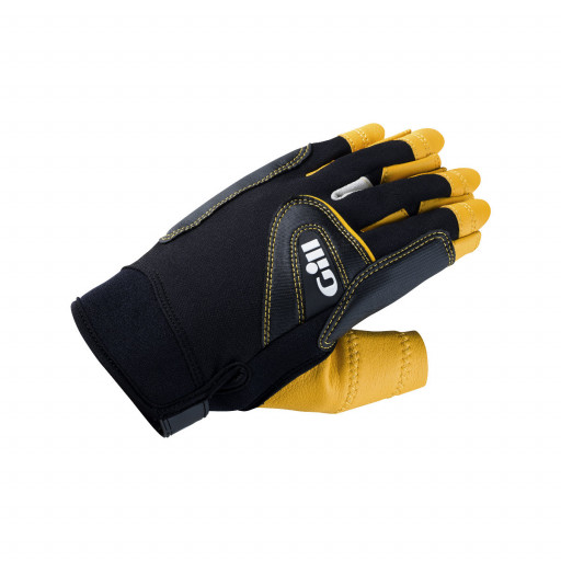 Gill Pro Gloves Segelhandschuhe Kurzfinger schwarz-gelb