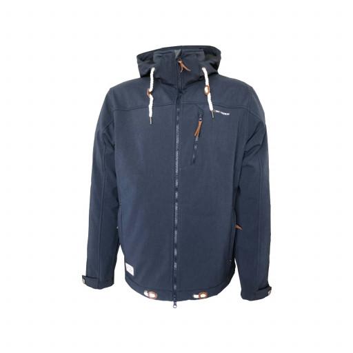 Dry Fashion Heiligenhafen Softshell-Jacke Herren marineblau-meliert