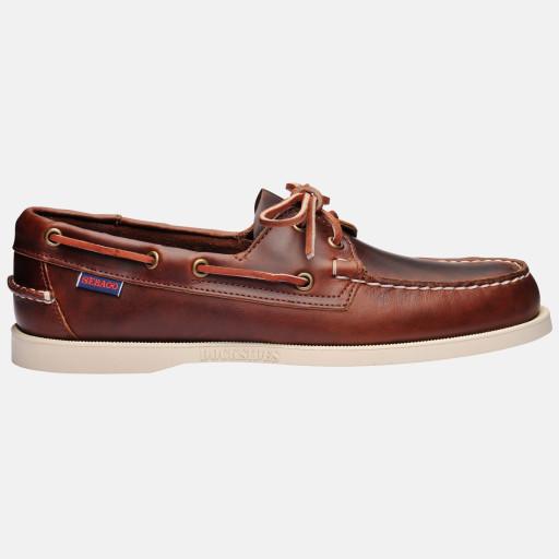 Sebago Docksides Bootsschuh Herren brown oiled waxy leather