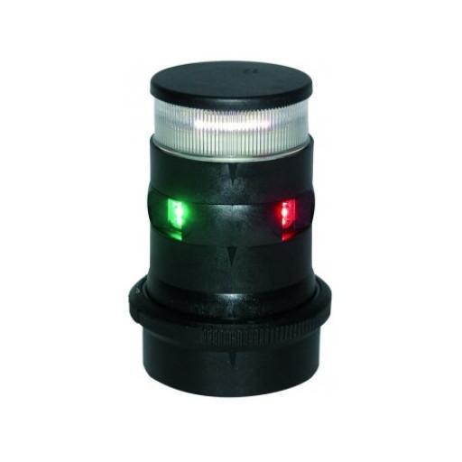 Aqua Signal Serie 34 Dreifarben-Anker-Laterne LED BSH - Gehäusefarbe schwarz