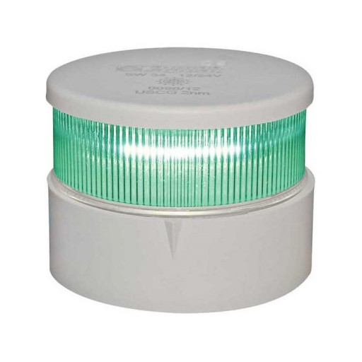 Aqua Signal Serie 34 Signallaterne Grün LED BSH - Gehäusefarbe weiß