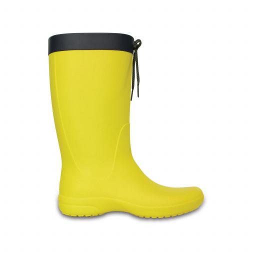 SALE: Crocs Freesail Rain Boot Gummistiefel Damen gelb