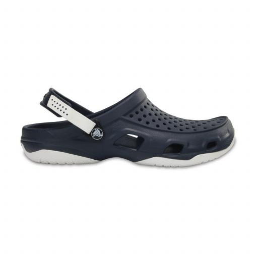 SALE: Crocs Swiftwater Deck Clog Pantolette Herren marineblau-weiß