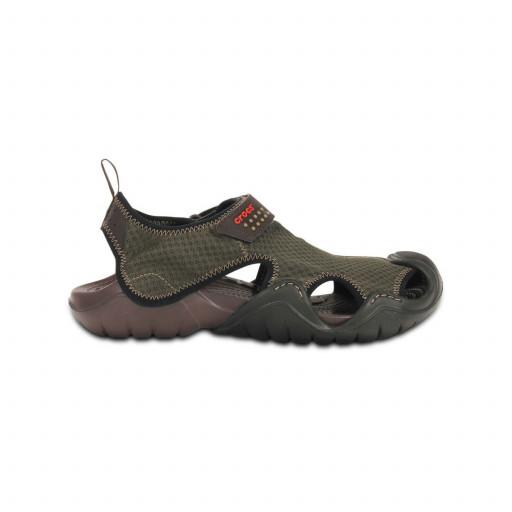 SALE: Crocs Swiftwater Sandalette Herren dunkelbraun