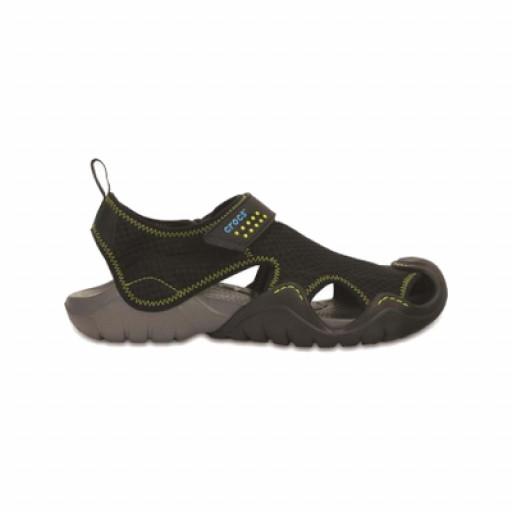 SALE: Crocs Swiftwater Sandalette Herren schwarz
