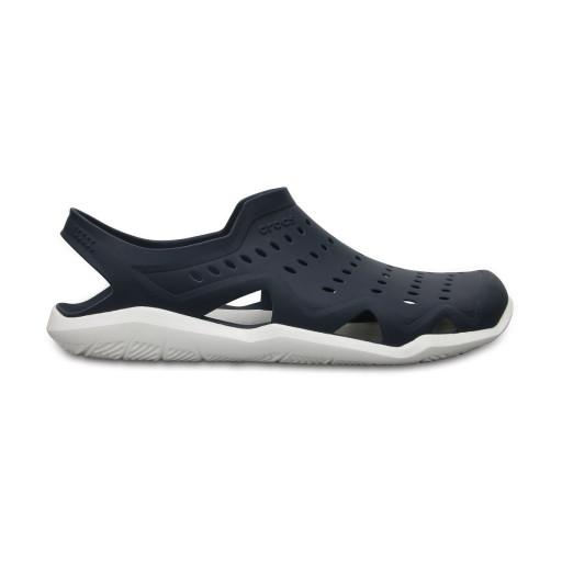 SALE: Crocs Swiftwater Wave Wasserschuh Herren marineblau-weiß