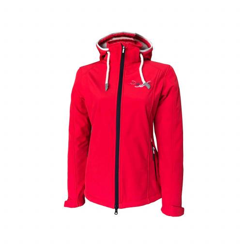 SALE: Dry Fashion Hooge Softshell-Jacke Damen rot
