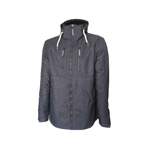 Dry Fashion Neuwerk Funktions-Jacke Herren dunkelgrau-meliert