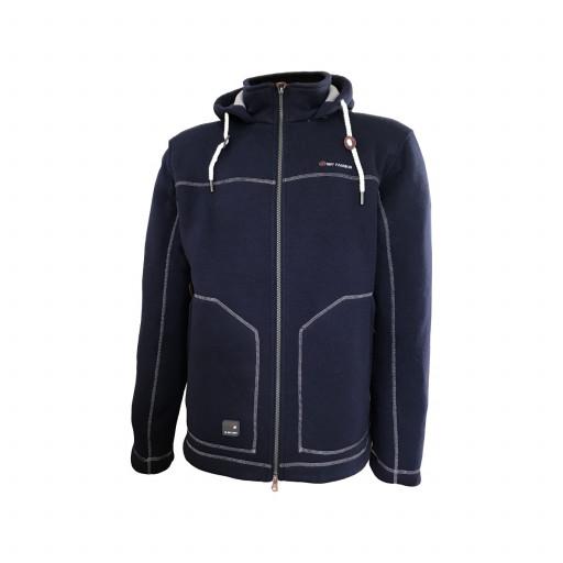 Dry Fashion Pellworm Strickfleece-Jacke Herren marineblau