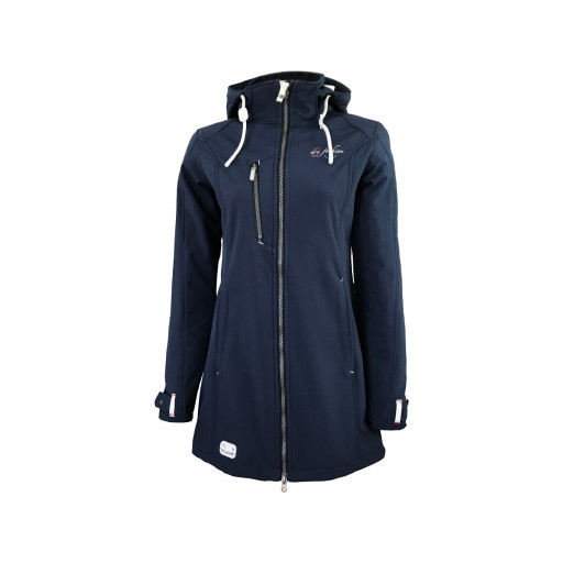 Dry Fashion Rantum Softshell-Mantel Damen marineblau