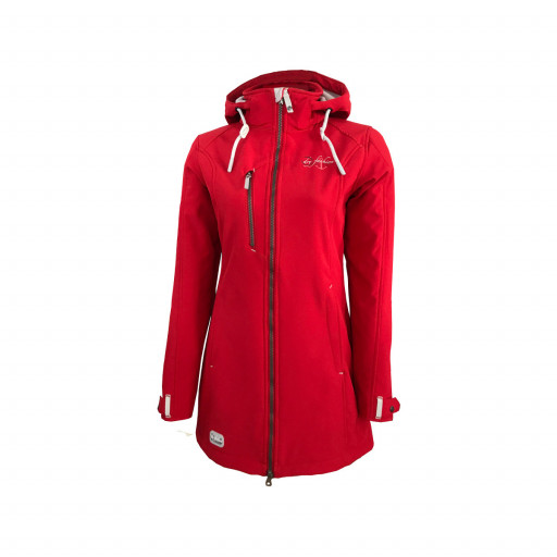 Dry Fashion Rantum Softshell-Mantel Damen rot