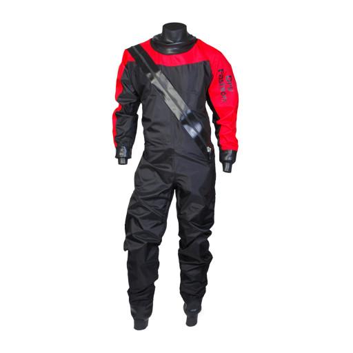 Dry Fashion Sailing Standard Nylon Trockenanzug Unisex schwarz-rot