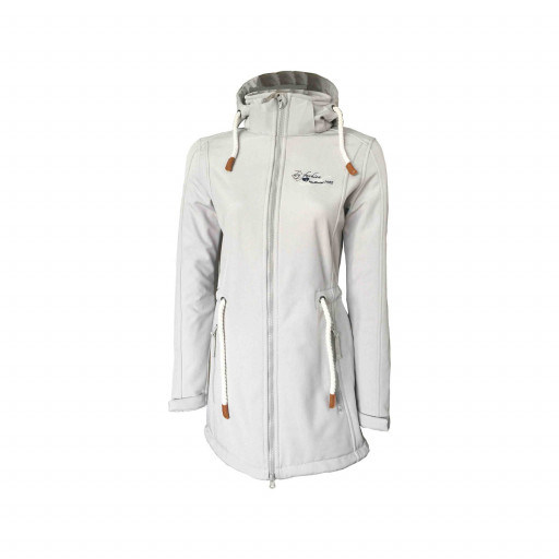 Dry Fashion Sylt Softshell-Mantel Damen hellgrau-meliert