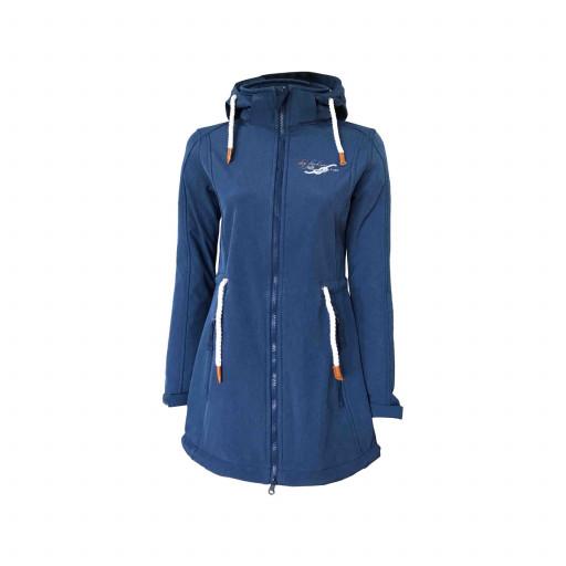 Dry Fashion Sylt Softshell-Mantel Damen marineblau-meliert