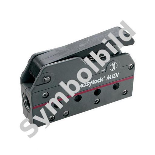Easy Marine Easylock Midi Fallenstopper - 6-12mm Schot, schwarz, fünffach