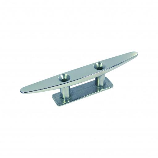 Edelstahl-Klampe flach - Länge 200mm, Lochabstand 55mm