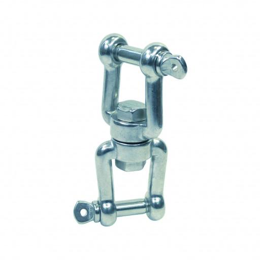 Edelstahl-Wirbelschäkel Gabel-Gabel - Länge 60mm, Durchmesser 5mm