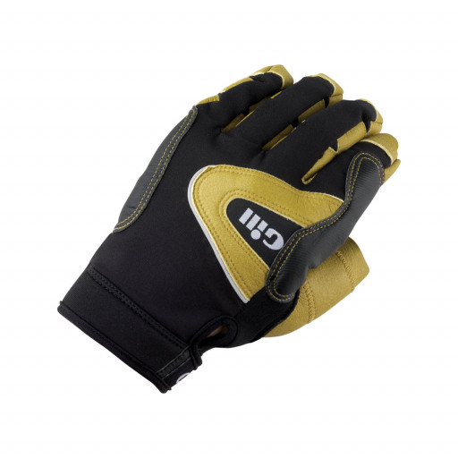 SALE: Gill Pro Gloves Segelhandschuhe Langfinger schwarz-gelb - Modell 2016