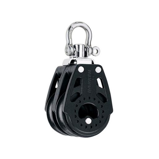 Harken 40mm Carbo Block - zweischeibig mit Wirbelschäkel