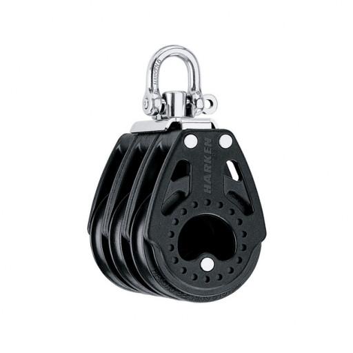 Harken 75mm Carbo Block - dreischeibig mit Wirbelschäkel
