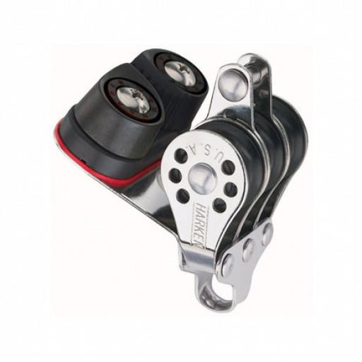 Harken Micro Block 22mm - dreischeibig mit Klemme und Hundsfott