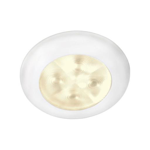 Hella Marine Serie 9596 Rakino Deckenstrahler LED - Gehäuse Kunststoff weiß - Lichtfarbe warmweiß - Spannung 12 Volt