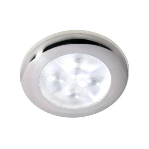 Hella Marine Serie 9599 Rakino Deckenstrahler LED - Gehäuse Edelstahl poliert - Lichtfarbe weiß - Spannung 12 Volt
