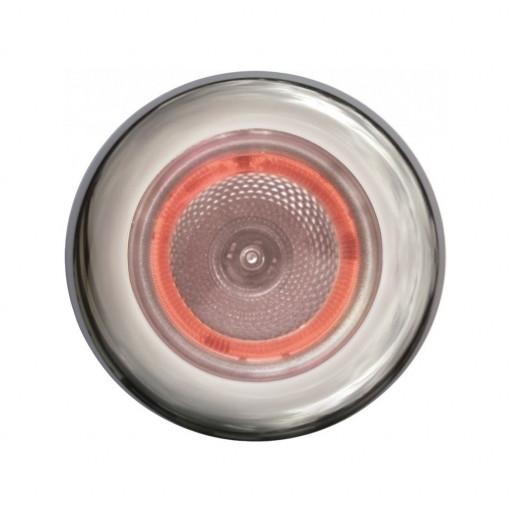 Hella Marine Serie 3980 SpotLED Deckenstrahler LED - Gehäuse Edelstahl satiniert - Leuchtring in rot