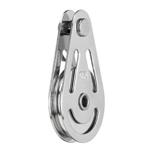 HS Sprenger Block für Draht 4mm - einscheibig mit einer Hohlachse und Splentring