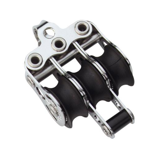 HS Sprenger Micro XS Block 6mm - dreischeibig mit festem Bügel und Hundsfott