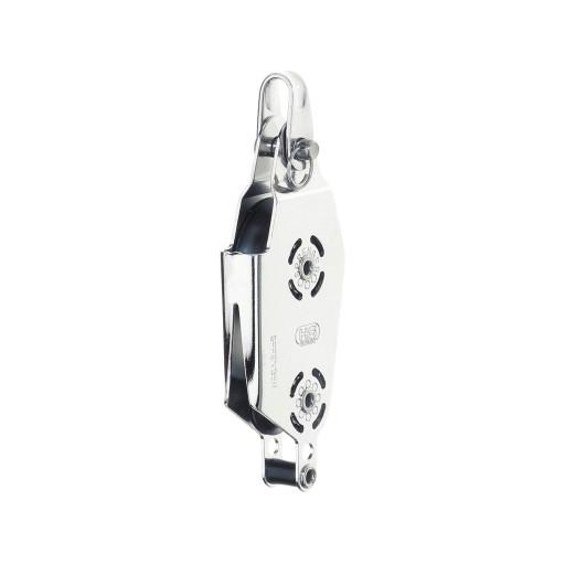 HS Sprenger Micro XS Block 6mm - Violinblock, einscheibig mit V-Klemme und Hundsfott
