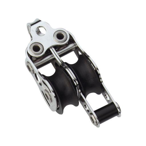 HS Sprenger Micro XS Block 6mm - zweischeibig mit festem Bügel und Hundsfott