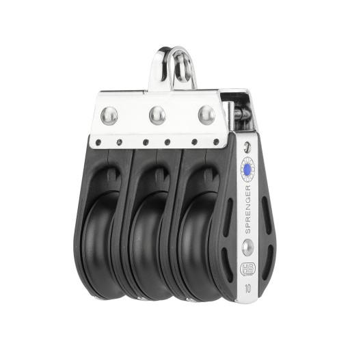 HS Sprenger S-Blockserie 10mm Block mit Nadellager - dreischeibig mit Bügel