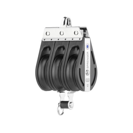 HS Sprenger S-Blockserie 12mm Block mit Nadellager - dreischeibig mit festem Bügel und Hundsfott