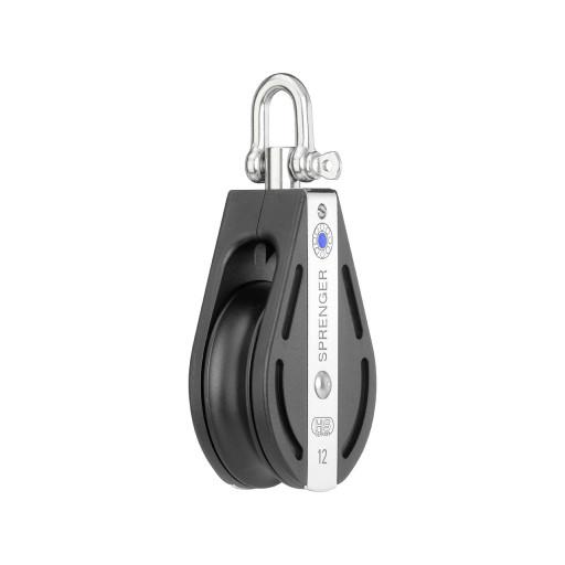 HS Sprenger S-Blockserie 12mm Block mit Nadellager - einscheibig mit Wirbelschäkel