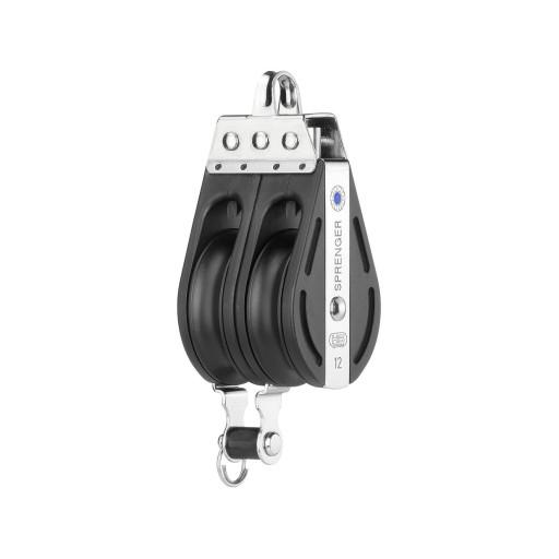 HS Sprenger S-Blockserie 12mm Block mit Nadellager - zweischeibig mit festem Bügel und Hundsfott