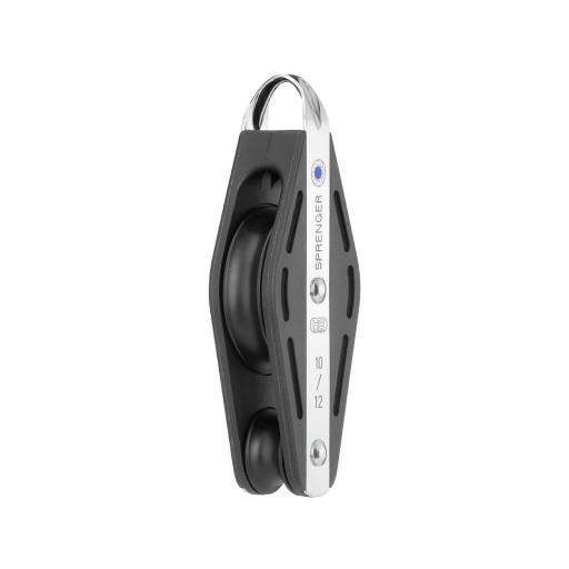 HS Sprenger S-Blockserie 12mm Violinblock mit Nadellager - einscheibig mit festem Bügel