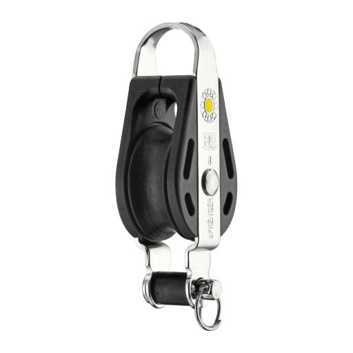 HS Sprenger S-Blockserie 8mm Block mit Gleitlager - einscheibig mit festem Bügel und Hundsfott