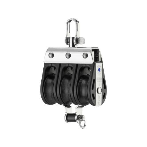 HS Sprenger S-Blockserie 8mm Block mit Nadellager - dreischeibig mit Wirbelschäkel und Hundsfott