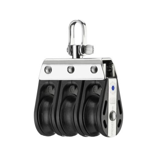 HS Sprenger S-Blockserie 8mm Block mit Nadellager - dreischeibig mit Wirbelschäkel