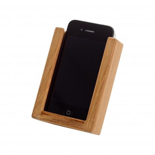 iPhone Halterung aus Teak - 78 x 25 x 107mm