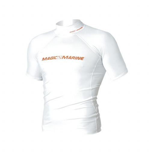 SALE: Magic Marine Cube Rash Vest T-Shirt Herren weiß