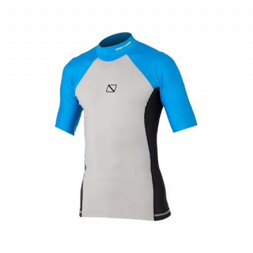 SALE: Magic Marine Energy Rash Vest T-Shirt Herren weiß-blau