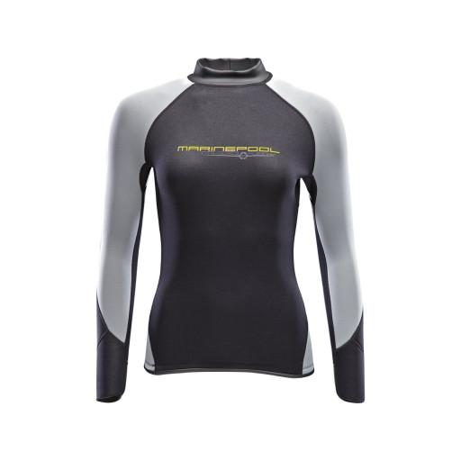Marinepool NTS Flex Shirt Neopren-Longsleeve 2.5mm Damen schwarz-grau