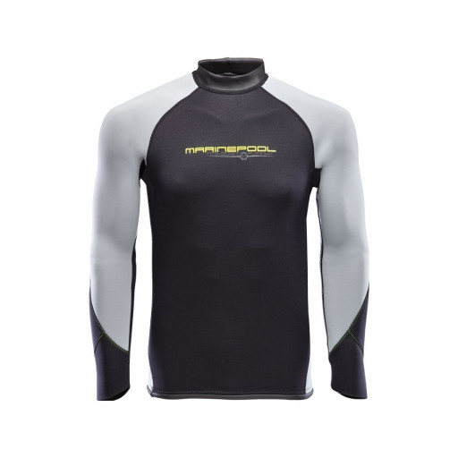 Marinepool NTS Flex Shirt Neopren-Longsleeve 2.5mm Herren schwarz-grau